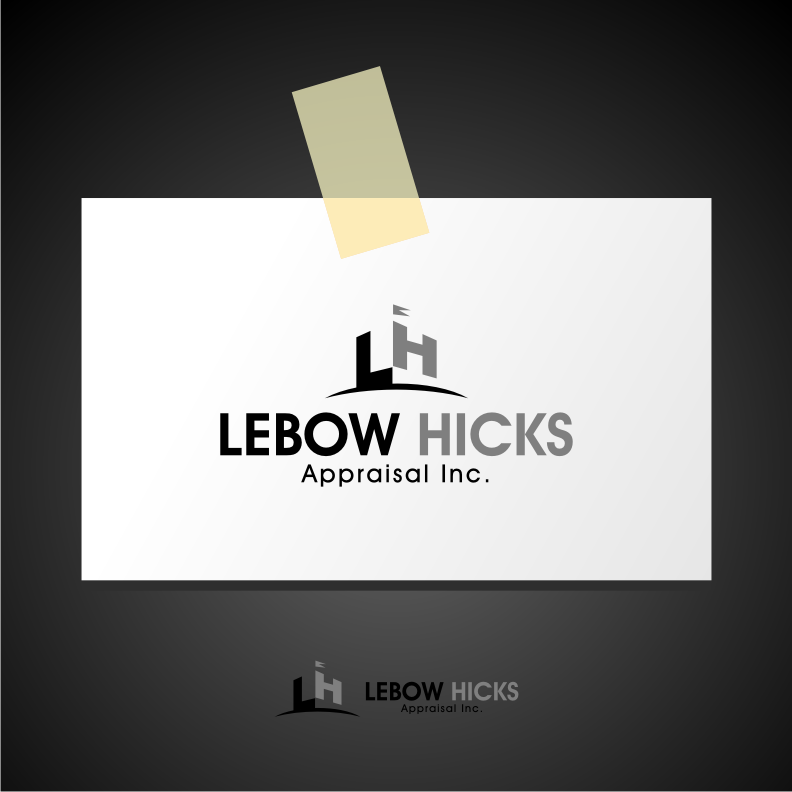 Logo Design by graphicleaf - Entry No. 40 in the Logo Design Contest Fun Logo Design for Lebow, Hicks Appraisal Inc..