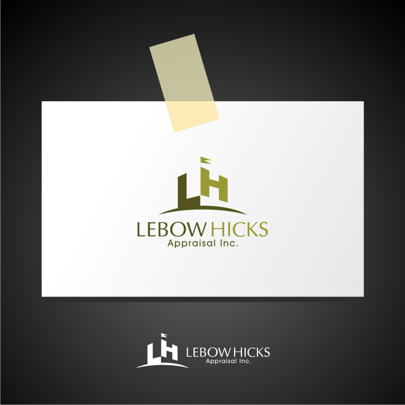 Logo Design by graphicleaf - Entry No. 41 in the Logo Design Contest Fun Logo Design for Lebow, Hicks Appraisal Inc..