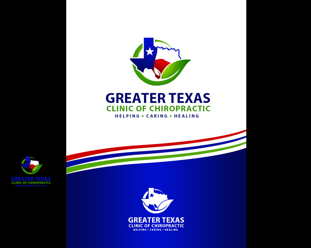 Logo Design by Private User - Entry No. 54 in the Logo Design Contest New Logo Design for Greater Texas Clinic of Chiropractic.