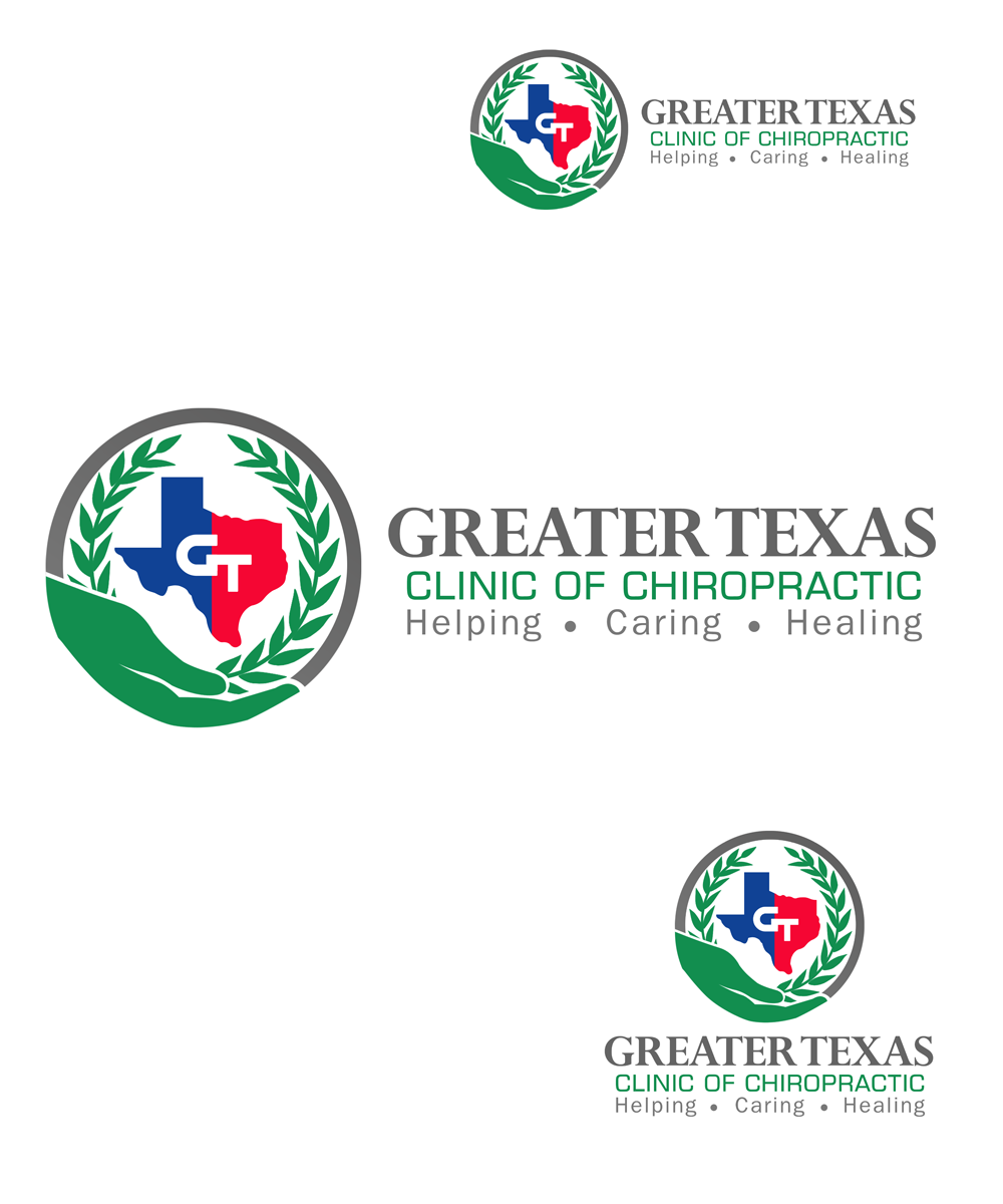 Logo Design by Private User - Entry No. 57 in the Logo Design Contest New Logo Design for Greater Texas Clinic of Chiropractic.