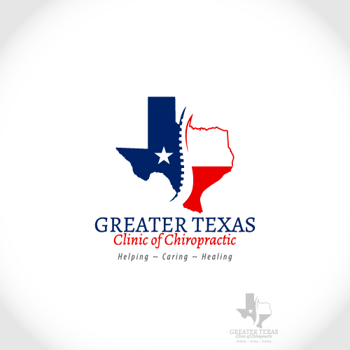 Logo Design by Wickramage Don Malinda Pathma Kumara - Entry No. 65 in the Logo Design Contest New Logo Design for Greater Texas Clinic of Chiropractic.