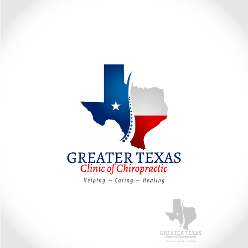 Logo Design by Wickramage Don Malinda Pathma Kumara - Entry No. 66 in the Logo Design Contest New Logo Design for Greater Texas Clinic of Chiropractic.