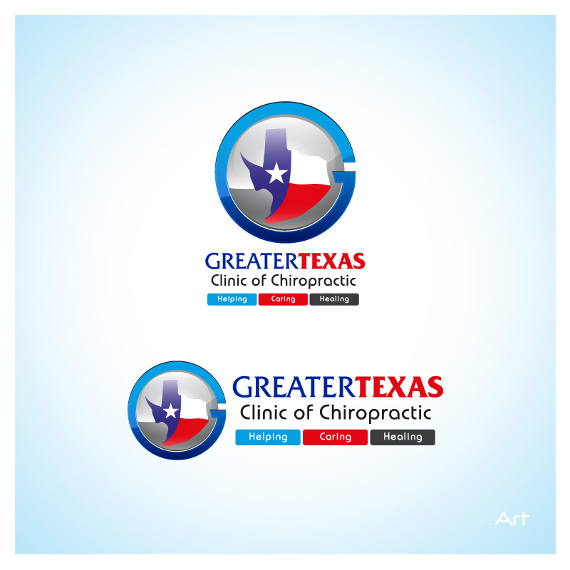 Logo Design by Puspita Wahyuni - Entry No. 68 in the Logo Design Contest New Logo Design for Greater Texas Clinic of Chiropractic.