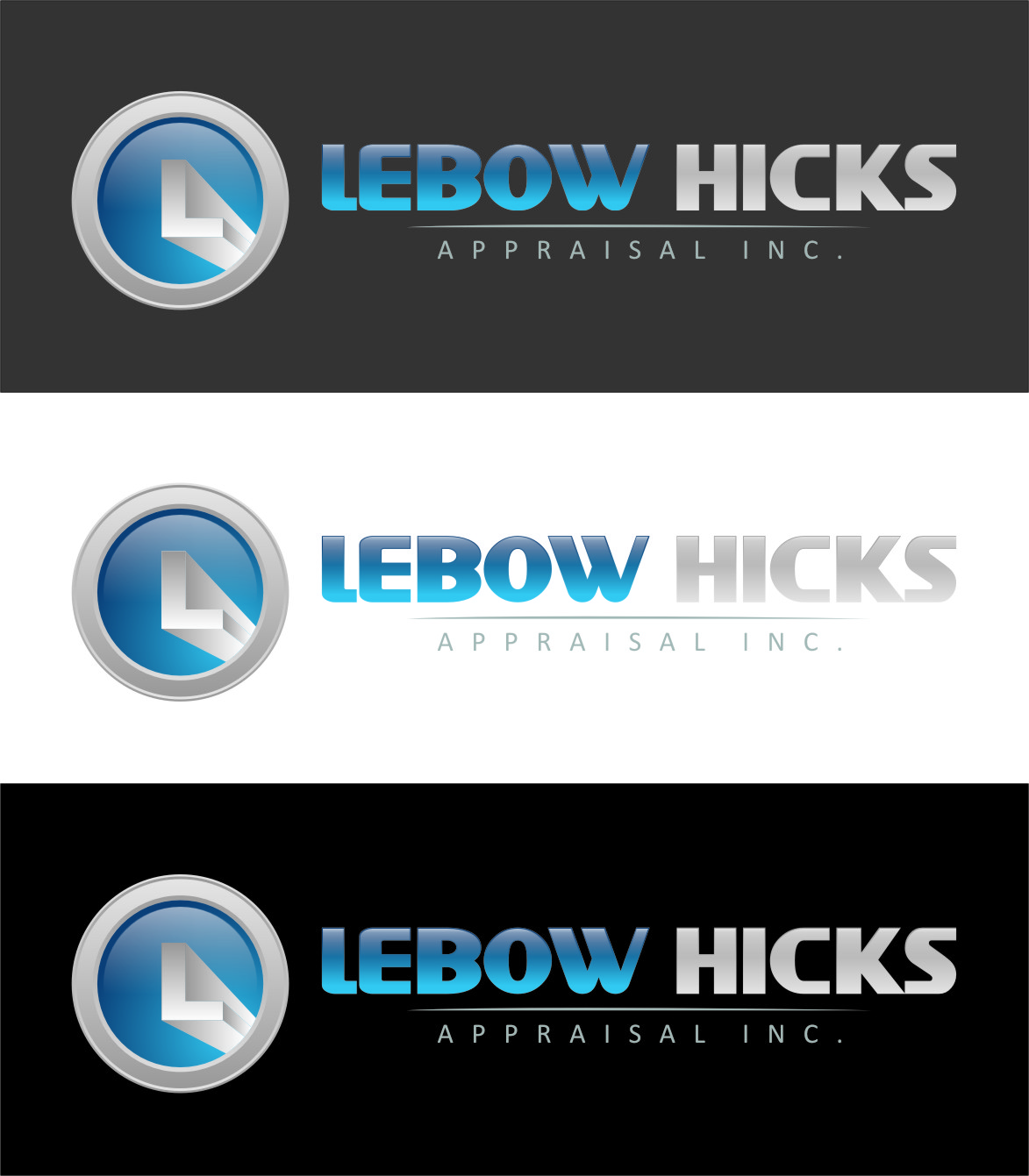 Logo Design by RasYa Muhammad Athaya - Entry No. 55 in the Logo Design Contest Fun Logo Design for Lebow, Hicks Appraisal Inc..