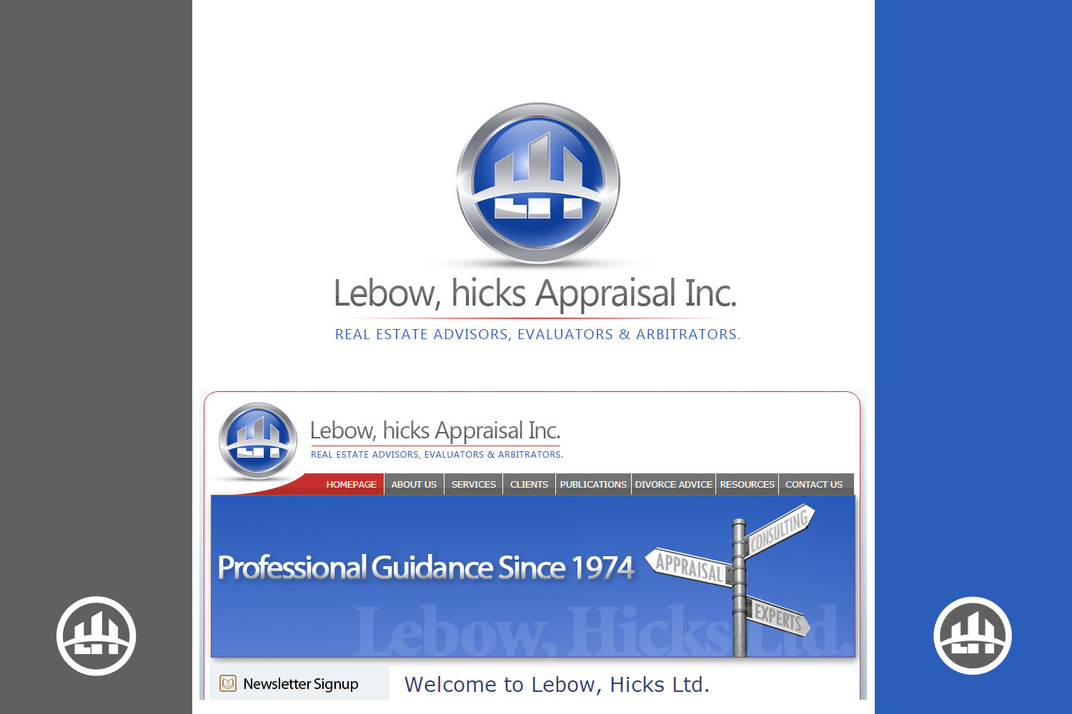 Logo Design by Private User - Entry No. 56 in the Logo Design Contest Fun Logo Design for Lebow, Hicks Appraisal Inc..
