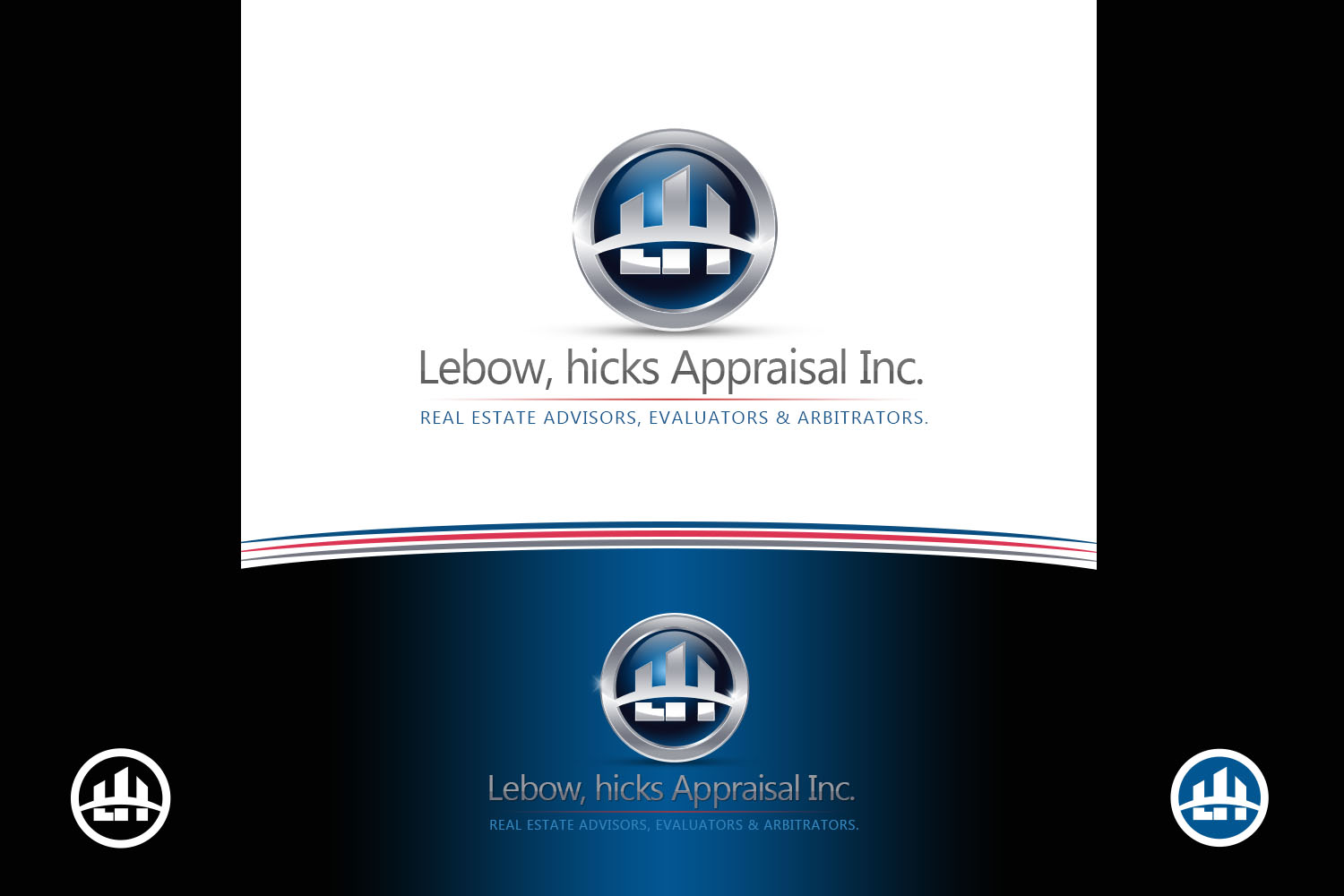 Logo Design by Private User - Entry No. 57 in the Logo Design Contest Fun Logo Design for Lebow, Hicks Appraisal Inc..