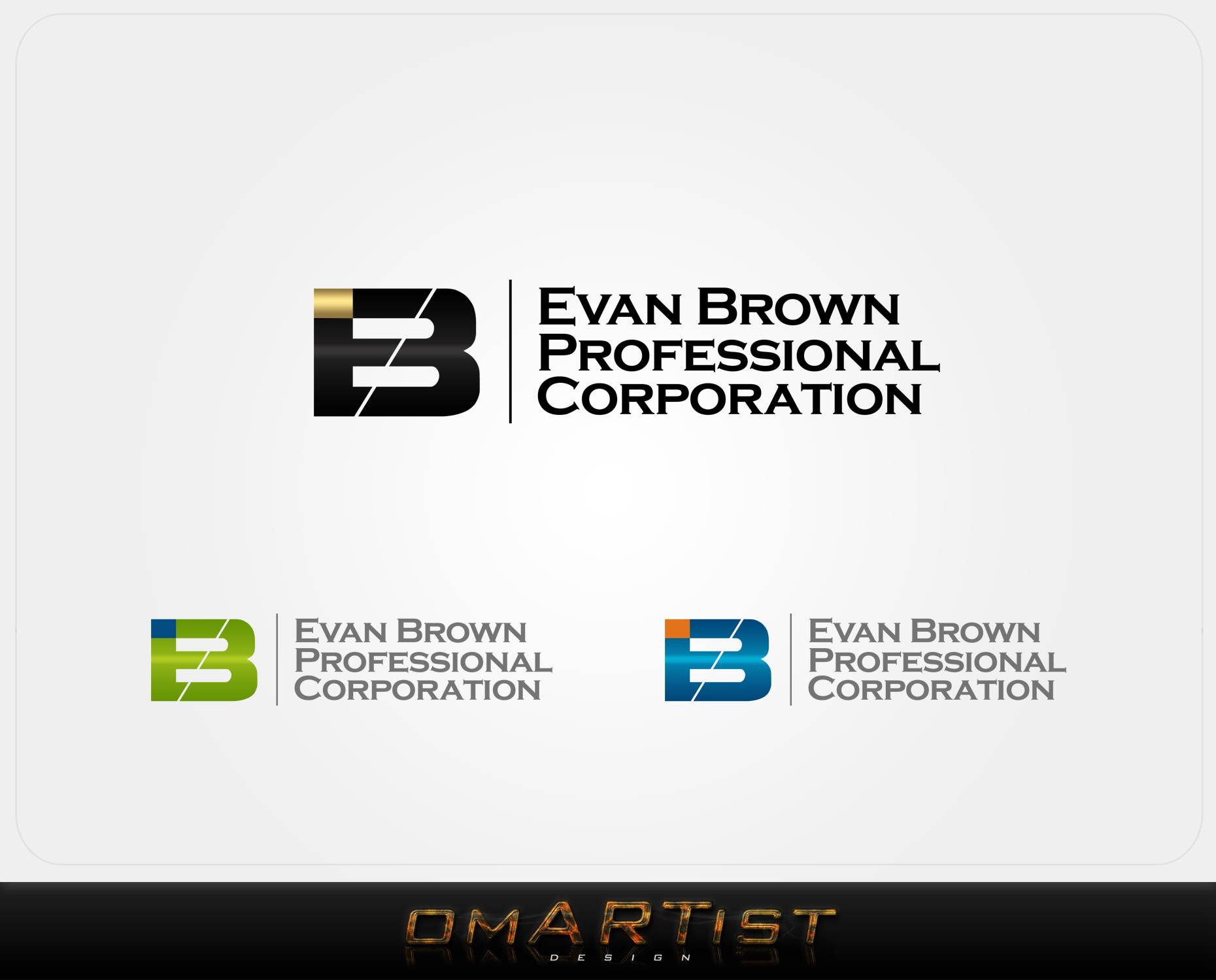 Logo Design by omARTist - Entry No. 2 in the Logo Design Contest Inspiring Logo Design for Evan Brown Professional Corporation.