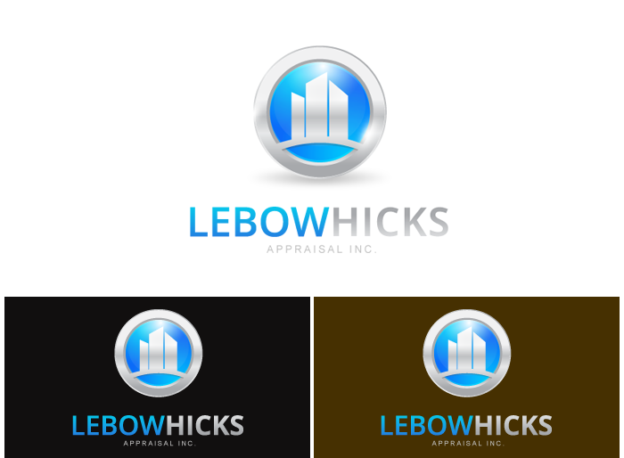 Logo Design by Jan Chua - Entry No. 58 in the Logo Design Contest Fun Logo Design for Lebow, Hicks Appraisal Inc..