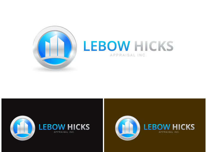 Logo Design by Jan Chua - Entry No. 59 in the Logo Design Contest Fun Logo Design for Lebow, Hicks Appraisal Inc..