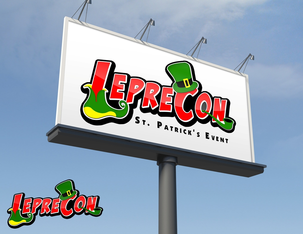 Logo Design by Juan_Kata - Entry No. 9 in the Logo Design Contest FUN Logo Design for *LepreCon* St. Patrick's Event [WILL END EARLY JAN. 26].