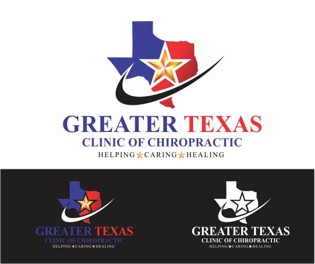 Logo Design by ronny - Entry No. 76 in the Logo Design Contest New Logo Design for Greater Texas Clinic of Chiropractic.