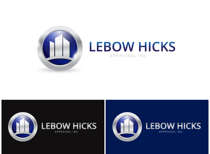 Logo Design by Jan Chua - Entry No. 72 in the Logo Design Contest Fun Logo Design for Lebow, Hicks Appraisal Inc..