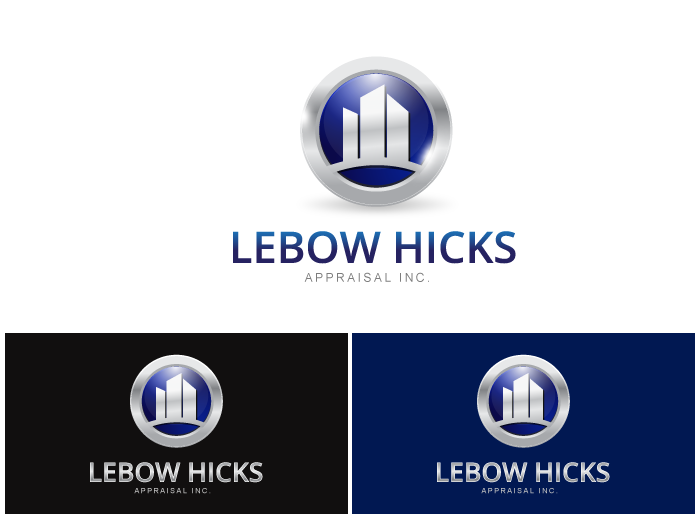 Logo Design by Jan Chua - Entry No. 73 in the Logo Design Contest Fun Logo Design for Lebow, Hicks Appraisal Inc..