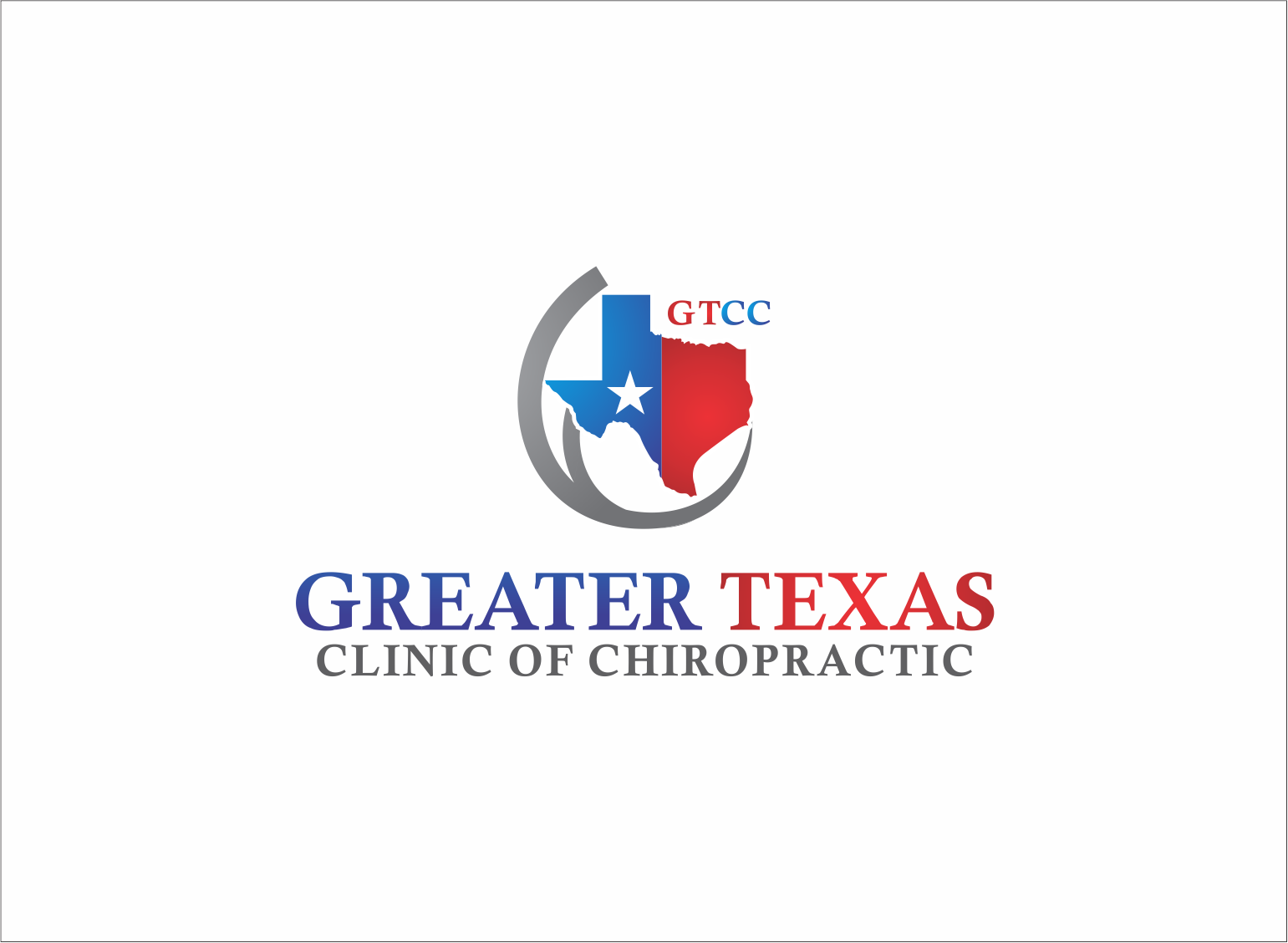 Logo Design by Armada Jamaluddin - Entry No. 79 in the Logo Design Contest New Logo Design for Greater Texas Clinic of Chiropractic.