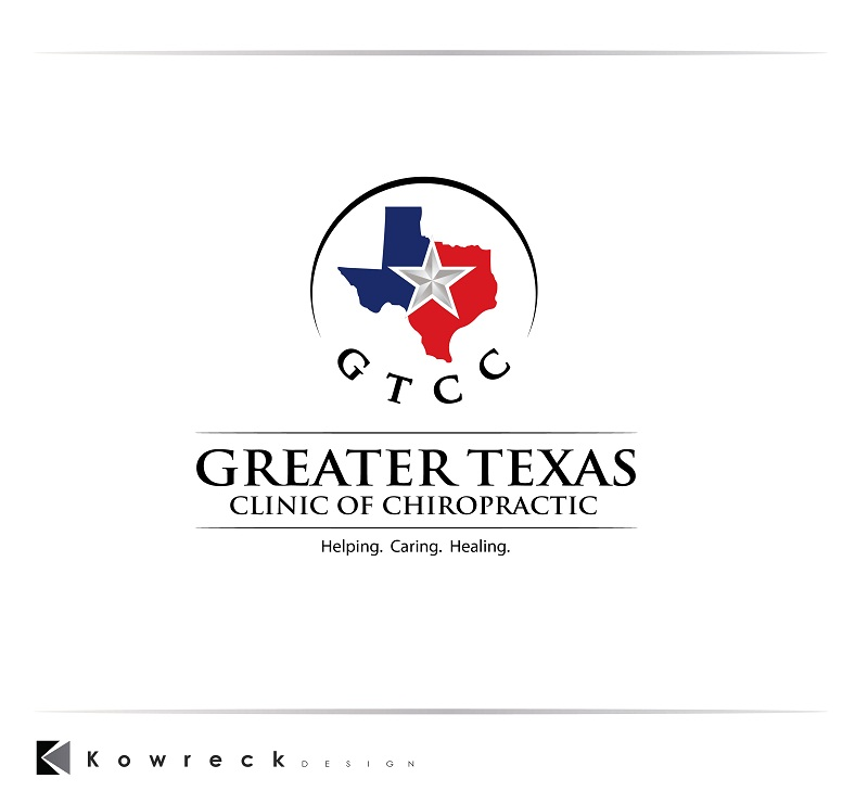 Logo Design by kowreck - Entry No. 89 in the Logo Design Contest New Logo Design for Greater Texas Clinic of Chiropractic.