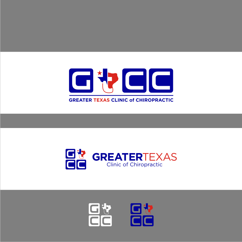 Logo Design by graphicleaf - Entry No. 91 in the Logo Design Contest New Logo Design for Greater Texas Clinic of Chiropractic.
