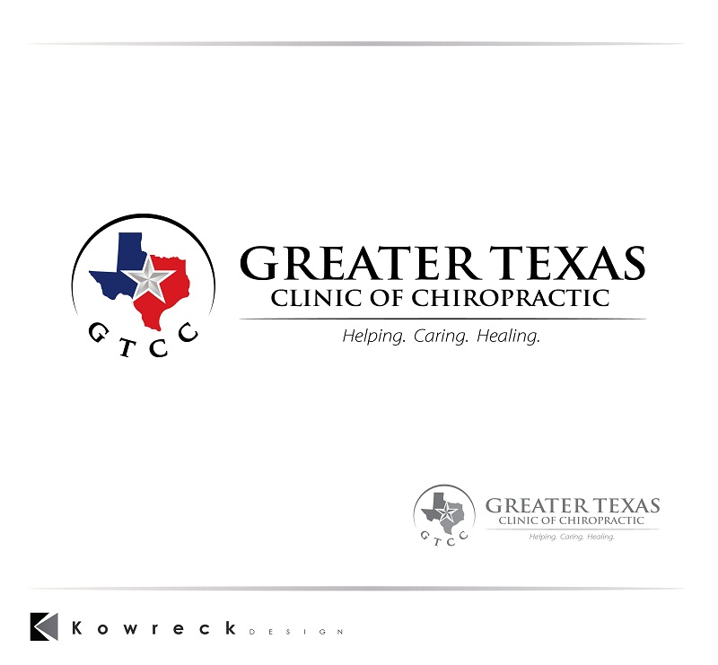 Logo Design by kowreck - Entry No. 93 in the Logo Design Contest New Logo Design for Greater Texas Clinic of Chiropractic.