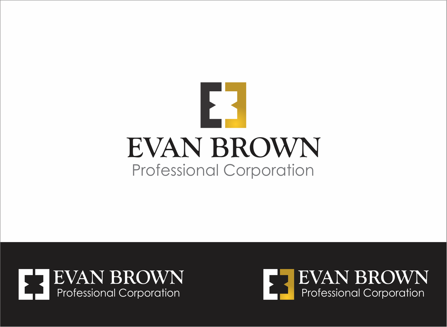 Logo Design by Armada Jamaluddin - Entry No. 28 in the Logo Design Contest Inspiring Logo Design for Evan Brown Professional Corporation.