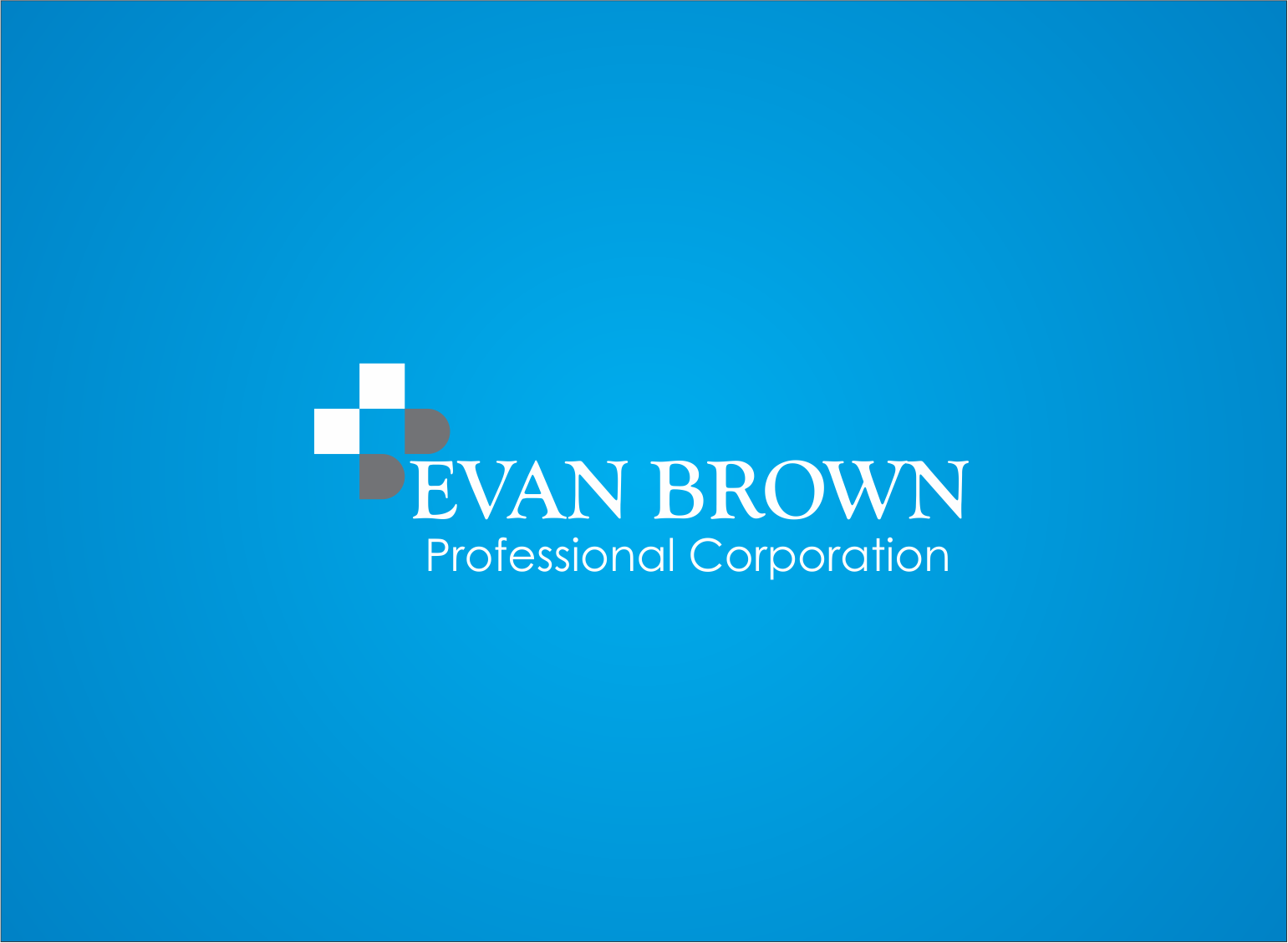 Logo Design by Armada Jamaluddin - Entry No. 30 in the Logo Design Contest Inspiring Logo Design for Evan Brown Professional Corporation.