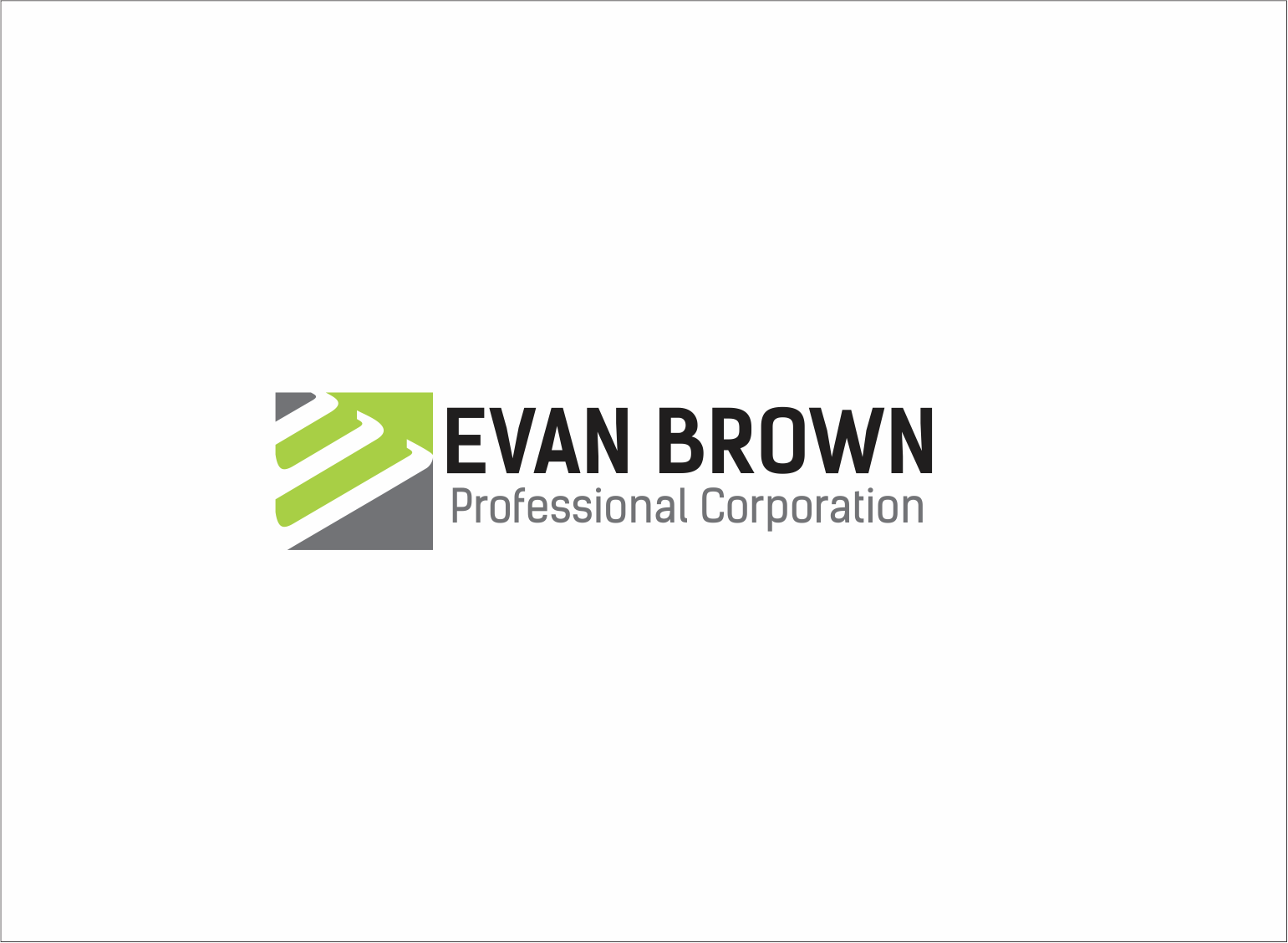 Logo Design by Armada Jamaluddin - Entry No. 31 in the Logo Design Contest Inspiring Logo Design for Evan Brown Professional Corporation.