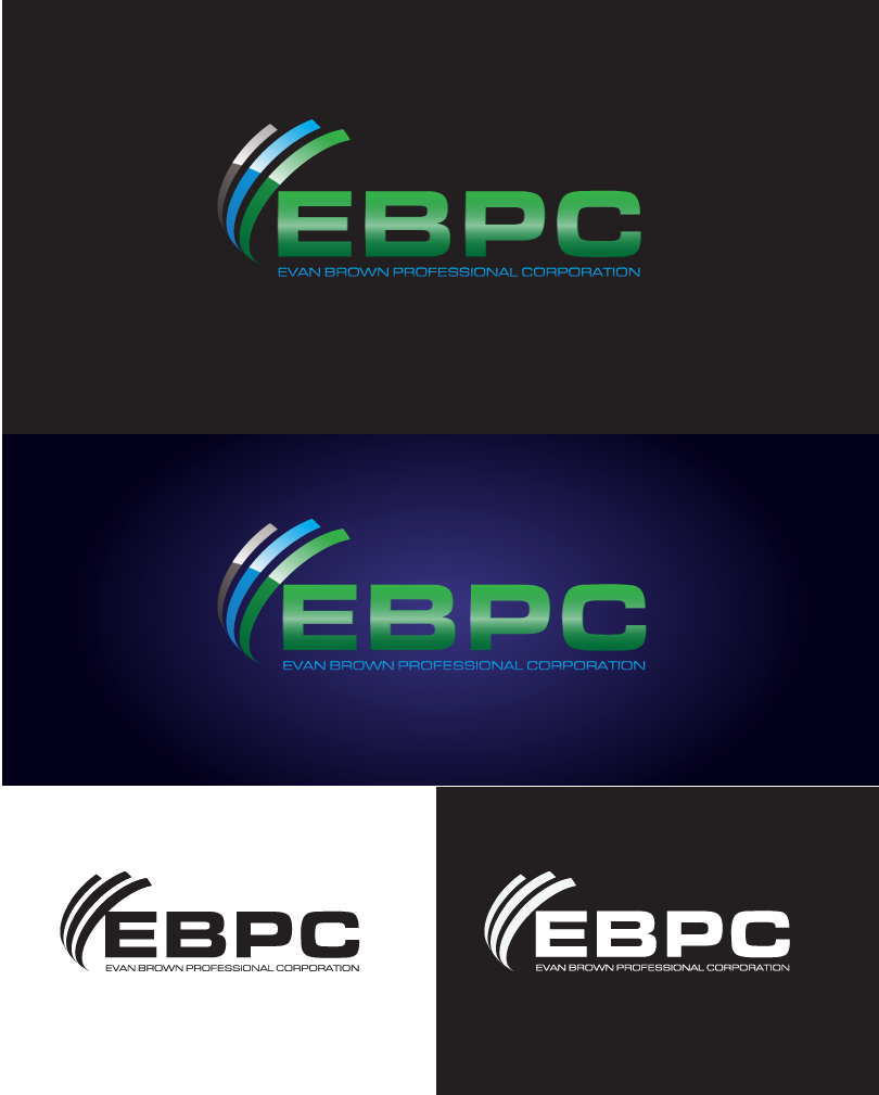 Logo Design by Private User - Entry No. 32 in the Logo Design Contest Inspiring Logo Design for Evan Brown Professional Corporation.
