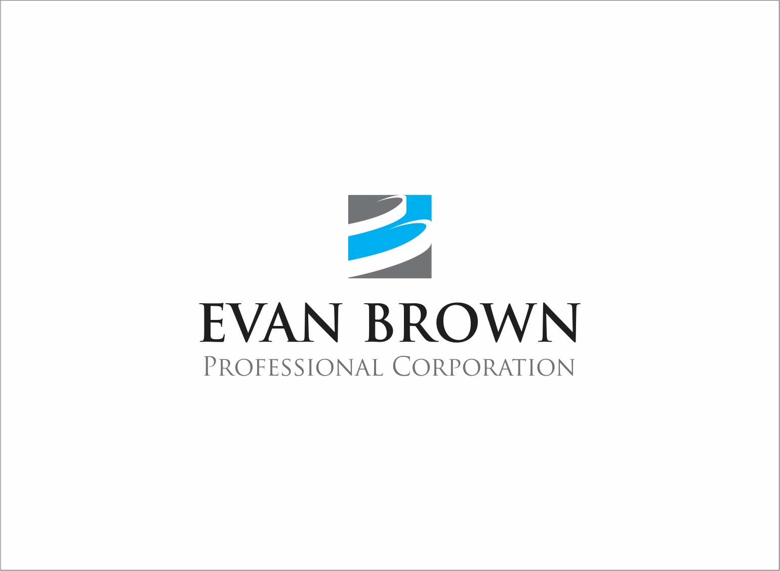Logo Design by Armada Jamaluddin - Entry No. 35 in the Logo Design Contest Inspiring Logo Design for Evan Brown Professional Corporation.