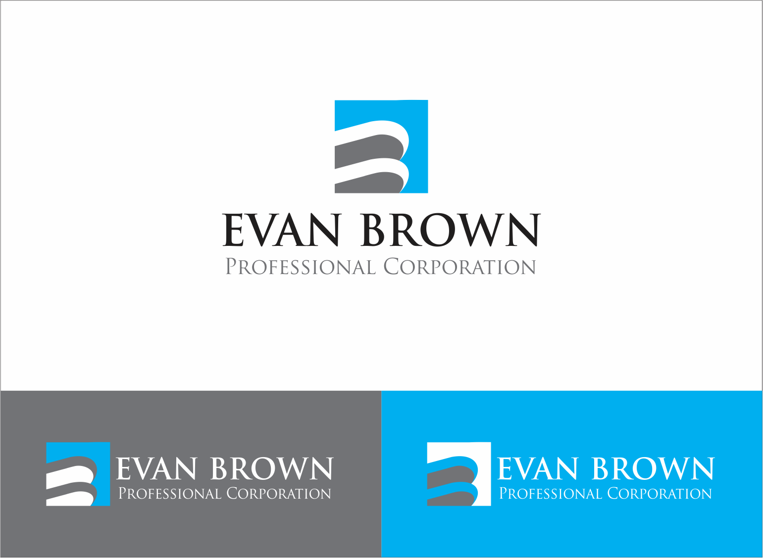 Logo Design by Armada Jamaluddin - Entry No. 41 in the Logo Design Contest Inspiring Logo Design for Evan Brown Professional Corporation.