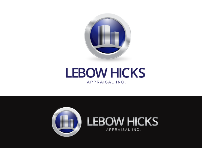 Logo Design by Jan Chua - Entry No. 79 in the Logo Design Contest Fun Logo Design for Lebow, Hicks Appraisal Inc..