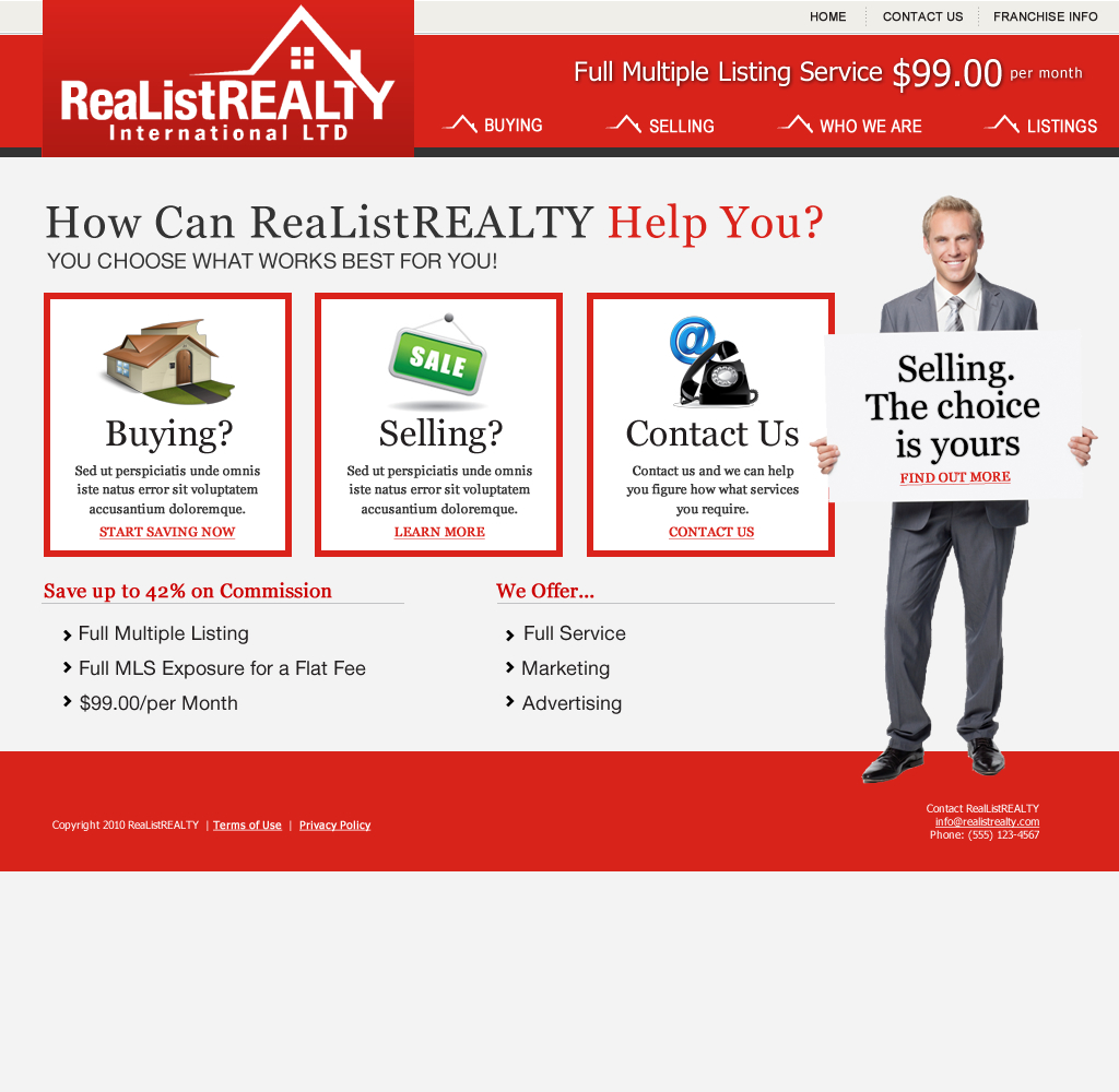 Web Page Design by wem24 - Entry No. 148 in the Web Page Design Contest Realist Realty International Ltd..
