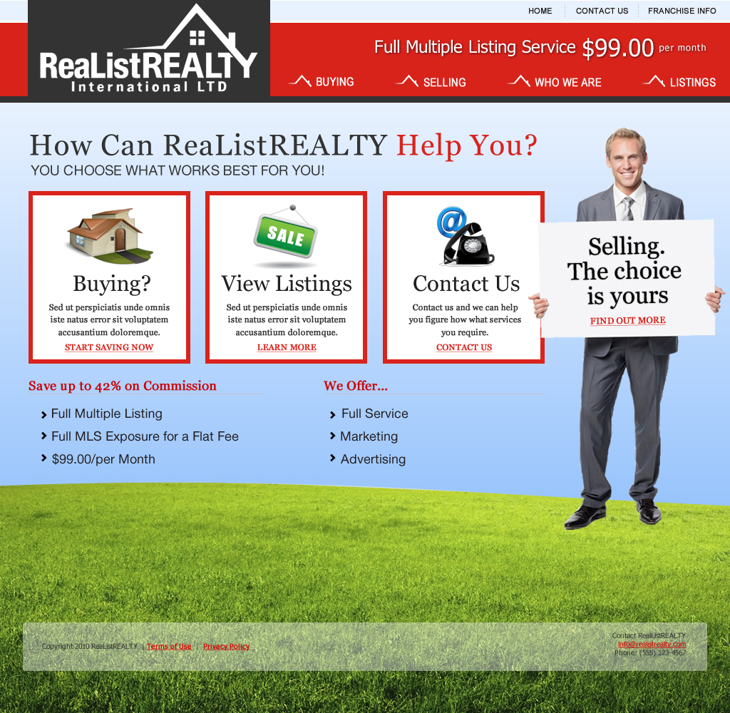 Web Page Design by wem24 - Entry No. 149 in the Web Page Design Contest Realist Realty International Ltd..