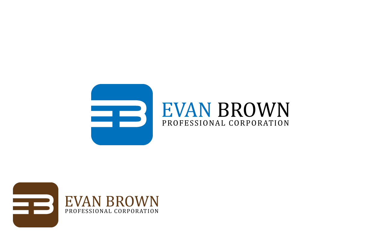 Logo Design by Jagdeep Singh - Entry No. 53 in the Logo Design Contest Inspiring Logo Design for Evan Brown Professional Corporation.