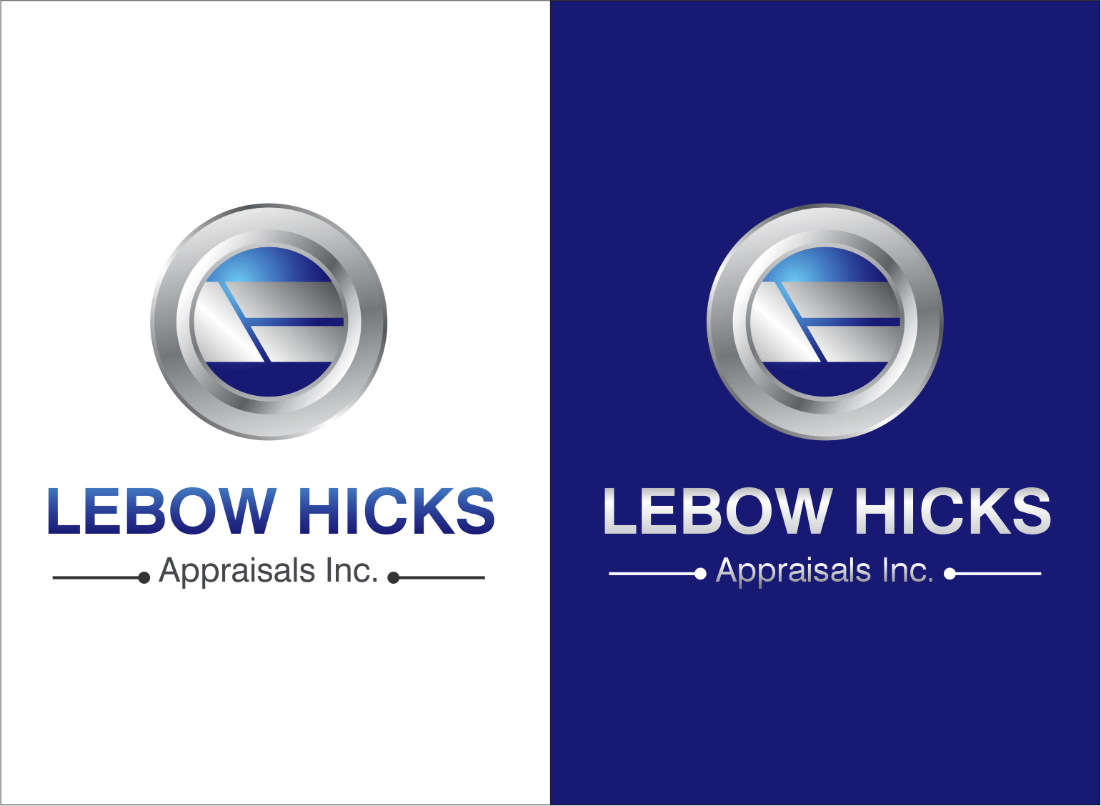 Logo Design by Armada Jamaluddin - Entry No. 101 in the Logo Design Contest Fun Logo Design for Lebow, Hicks Appraisal Inc..