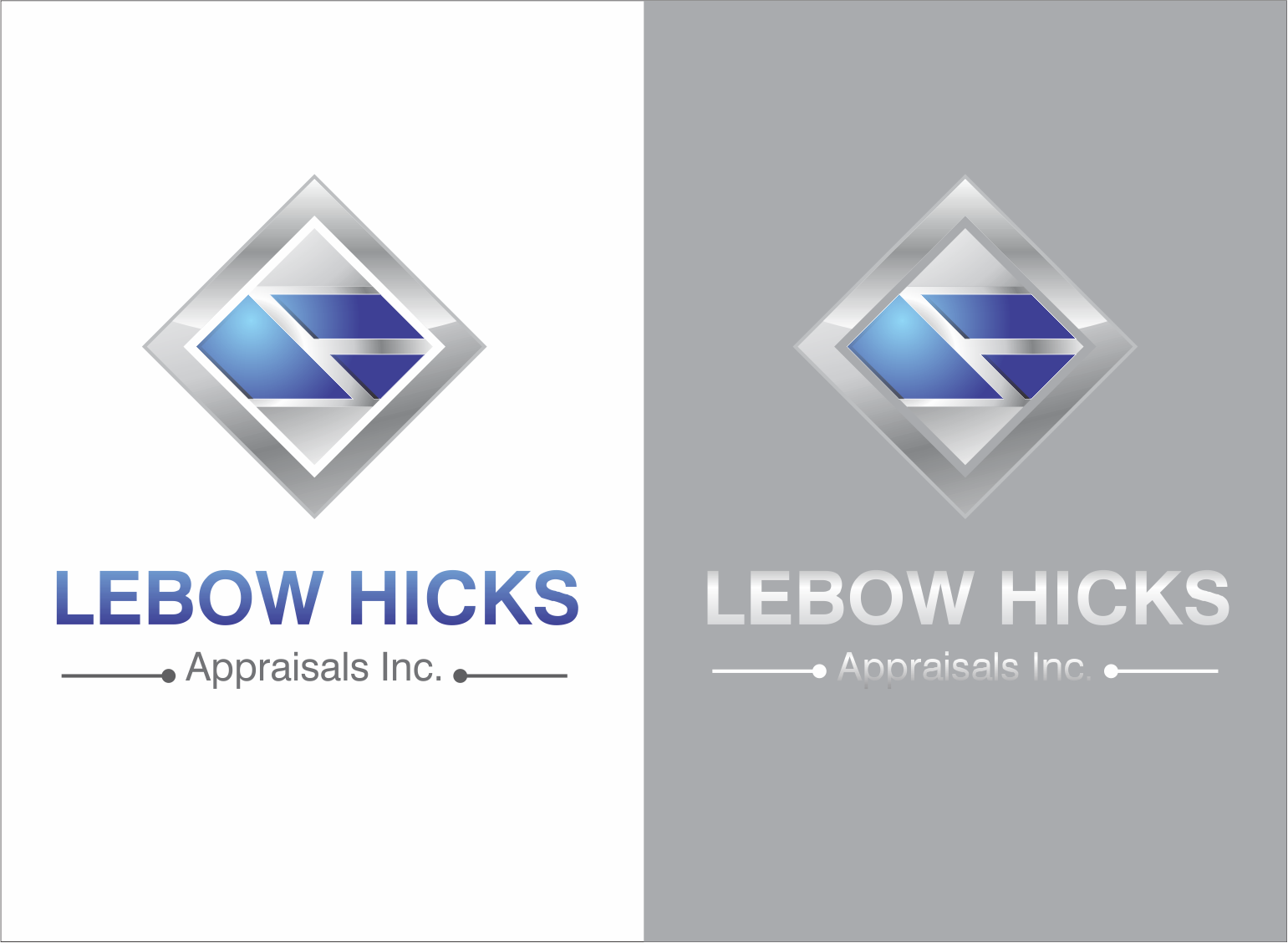 Logo Design by Armada Jamaluddin - Entry No. 104 in the Logo Design Contest Fun Logo Design for Lebow, Hicks Appraisal Inc..