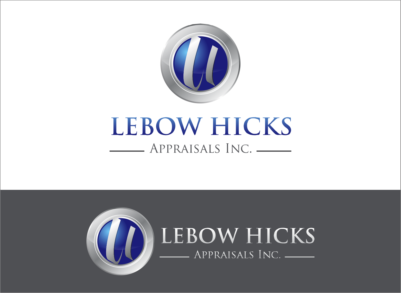 Logo Design by Armada Jamaluddin - Entry No. 105 in the Logo Design Contest Fun Logo Design for Lebow, Hicks Appraisal Inc..