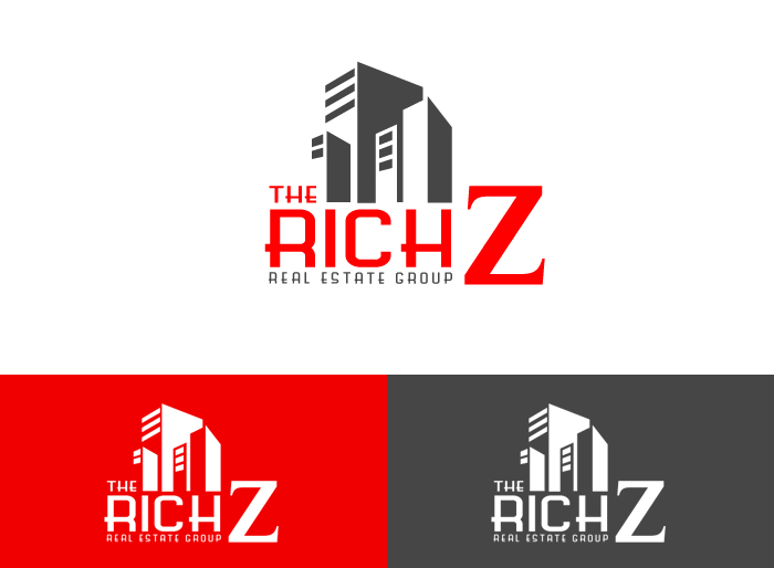Logo Design by Jan Chua - Entry No. 348 in the Logo Design Contest The Rich Z. Real Estate Group Logo Design.
