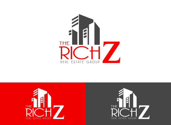 Logo Design by Jan Chua - Entry No. 349 in the Logo Design Contest The Rich Z. Real Estate Group Logo Design.