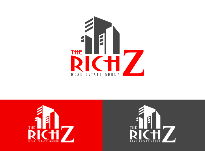 Logo Design by Jan Chua - Entry No. 350 in the Logo Design Contest The Rich Z. Real Estate Group Logo Design.