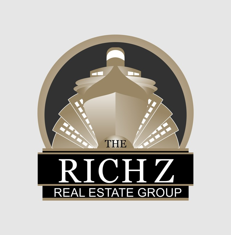 Logo Design by Crispin Jr Vasquez - Entry No. 352 in the Logo Design Contest The Rich Z. Real Estate Group Logo Design.