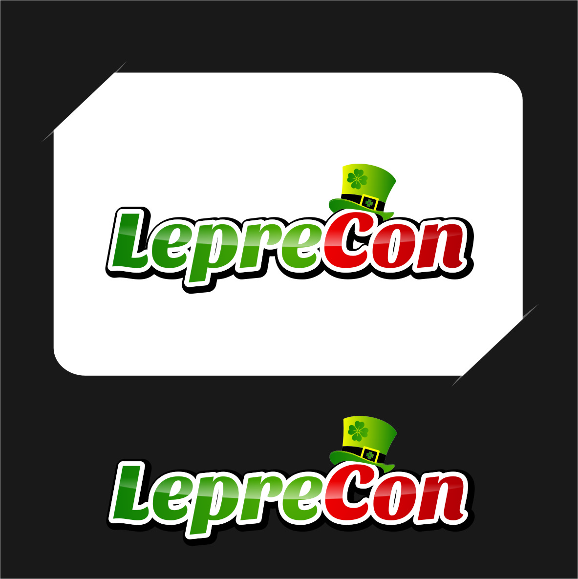 Logo Design by RasYa Muhammad Athaya - Entry No. 28 in the Logo Design Contest FUN Logo Design for *LepreCon* St. Patrick's Event [WILL END EARLY JAN. 26].
