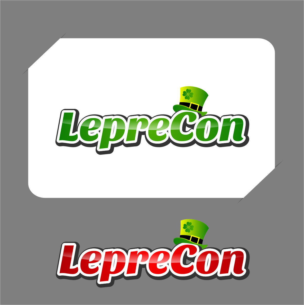 Logo Design by RasYa Muhammad Athaya - Entry No. 29 in the Logo Design Contest FUN Logo Design for *LepreCon* St. Patrick's Event [WILL END EARLY JAN. 26].
