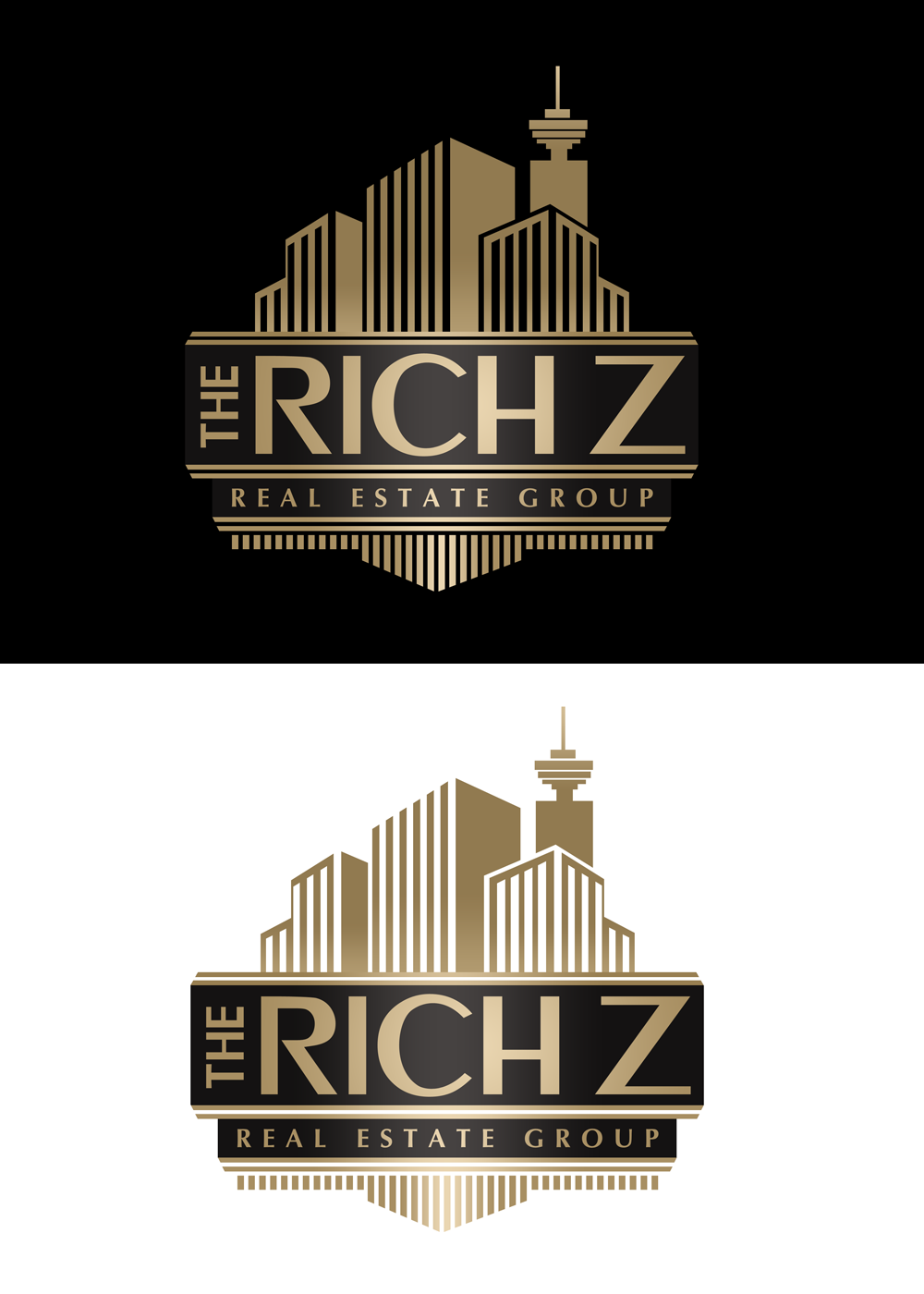 Logo Design by Private User - Entry No. 353 in the Logo Design Contest The Rich Z. Real Estate Group Logo Design.