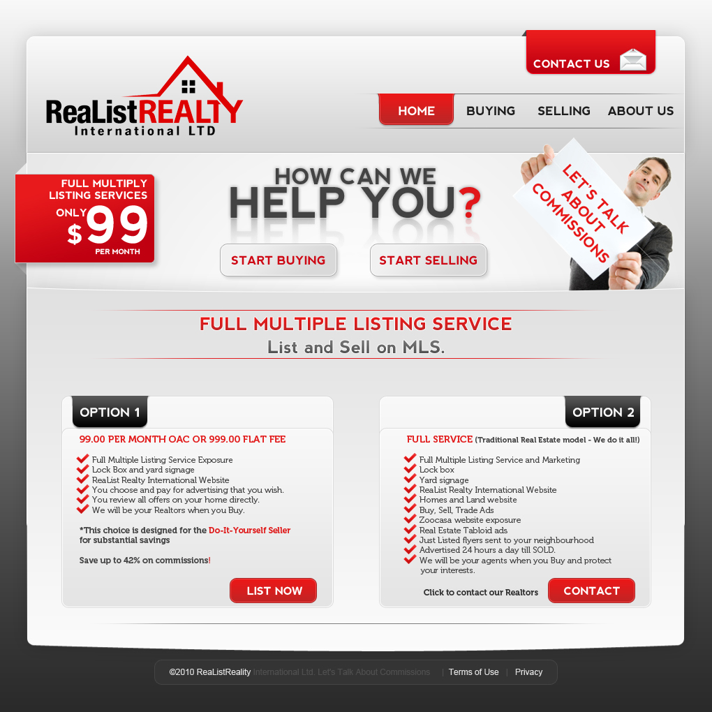 Web Page Design by Oskart - Entry No. 161 in the Web Page Design Contest Realist Realty International Ltd..