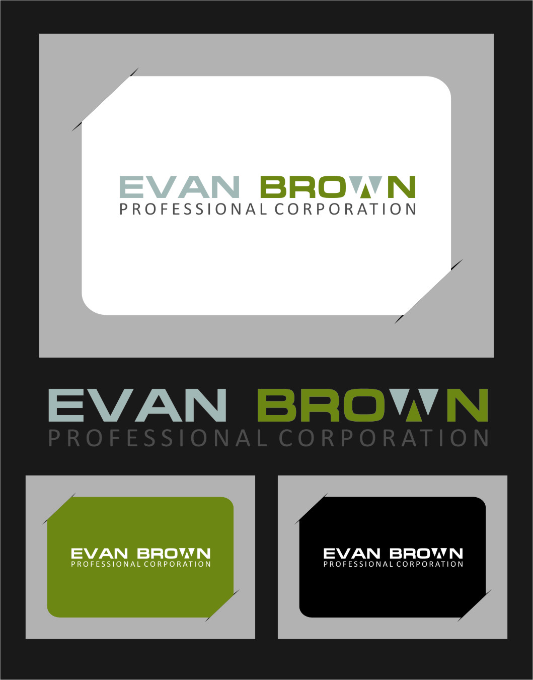 Logo Design by RasYa Muhammad Athaya - Entry No. 60 in the Logo Design Contest Inspiring Logo Design for Evan Brown Professional Corporation.