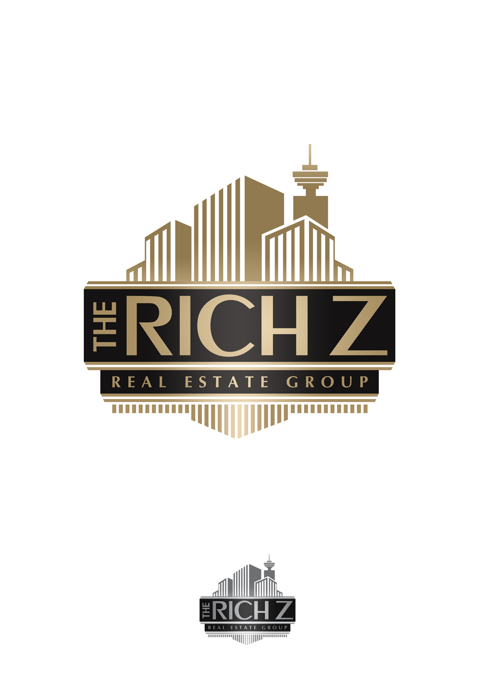 Logo Design by Private User - Entry No. 357 in the Logo Design Contest The Rich Z. Real Estate Group Logo Design.