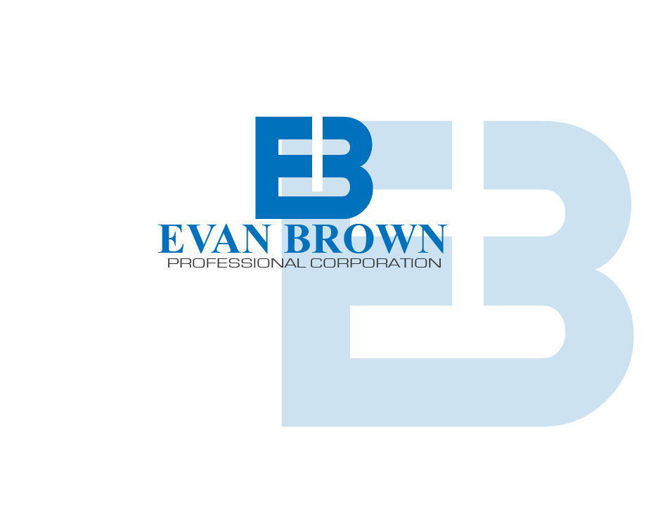 Logo Design by brands_in - Entry No. 61 in the Logo Design Contest Inspiring Logo Design for Evan Brown Professional Corporation.