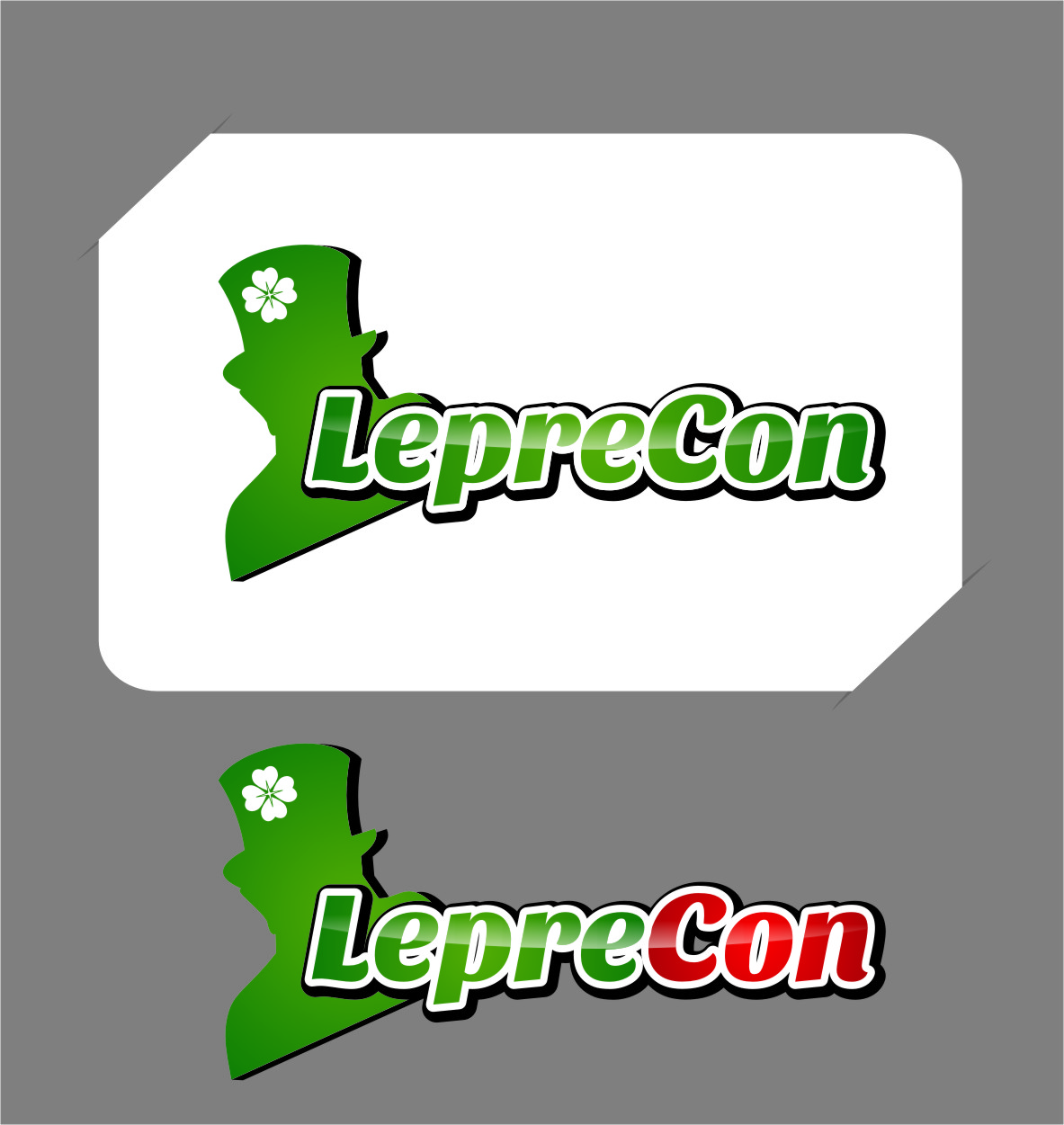 Logo Design by Ngepet_art - Entry No. 30 in the Logo Design Contest FUN Logo Design for *LepreCon* St. Patrick's Event [WILL END EARLY JAN. 26].