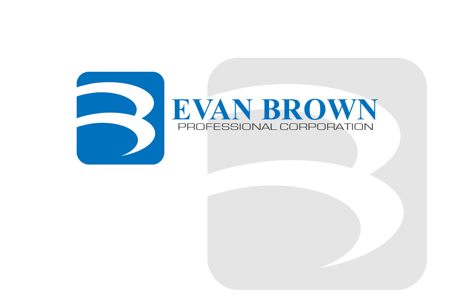 Logo Design by brands_in - Entry No. 62 in the Logo Design Contest Inspiring Logo Design for Evan Brown Professional Corporation.