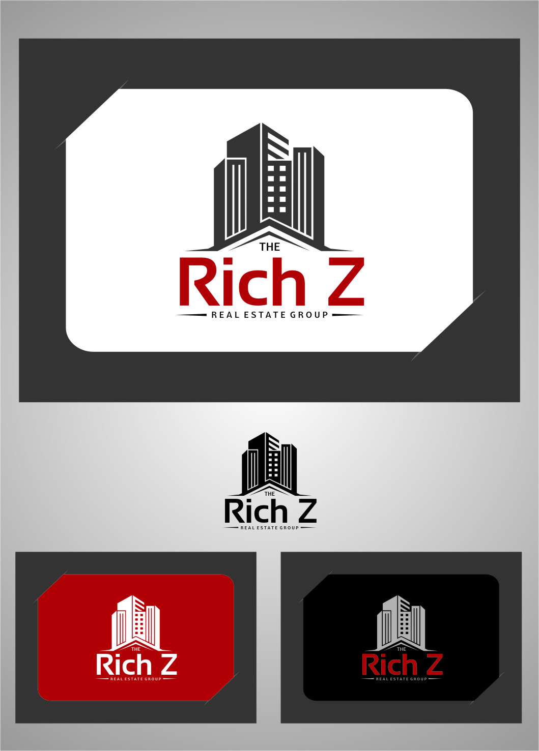 Logo Design by RasYa Muhammad Athaya - Entry No. 369 in the Logo Design Contest The Rich Z. Real Estate Group Logo Design.