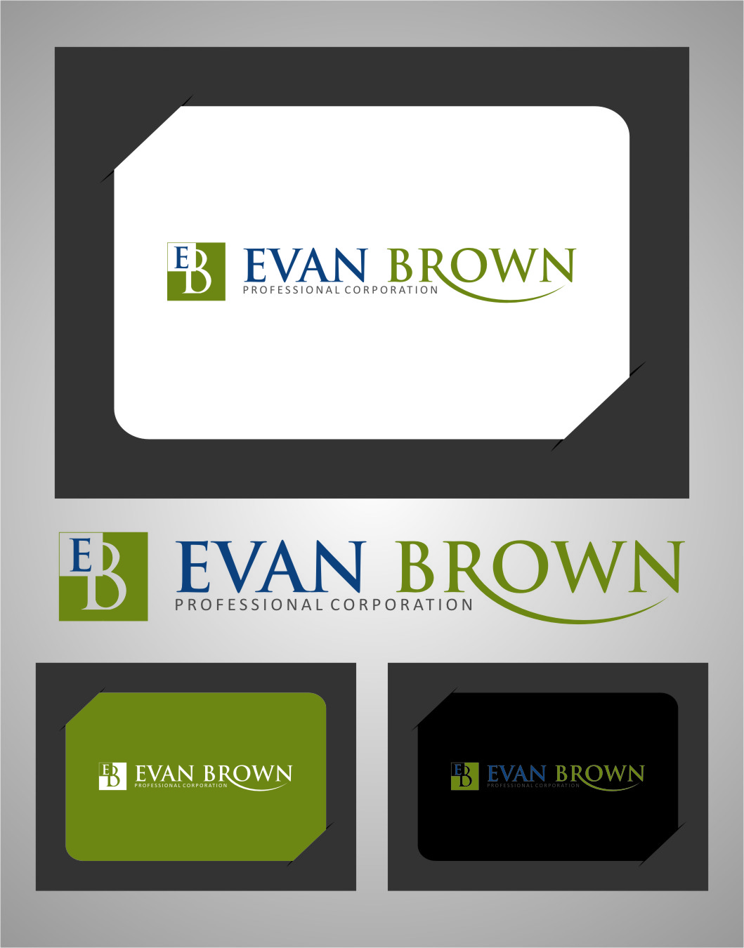 Logo Design by RasYa Muhammad Athaya - Entry No. 74 in the Logo Design Contest Inspiring Logo Design for Evan Brown Professional Corporation.