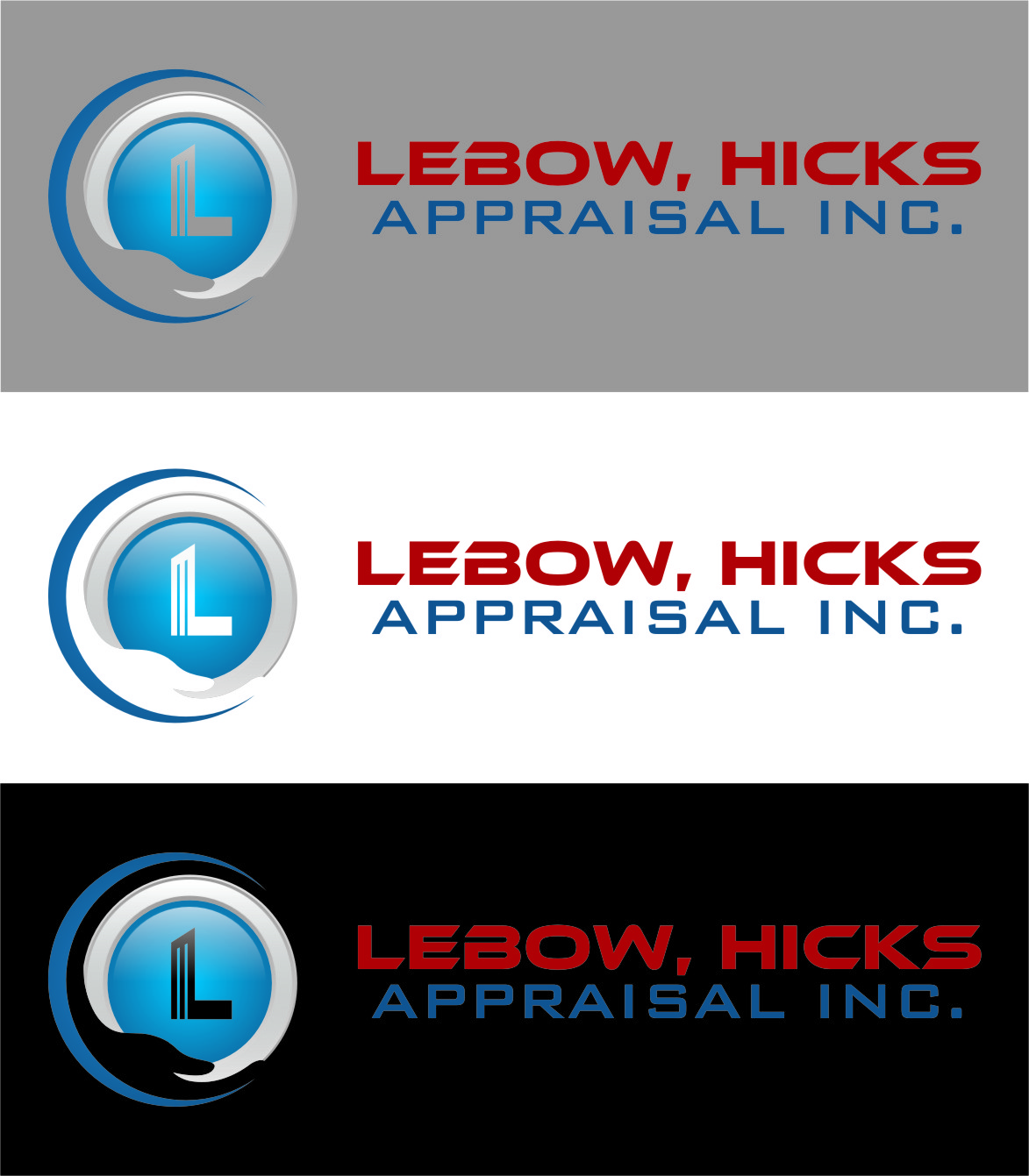 Logo Design by Ngepet_art - Entry No. 119 in the Logo Design Contest Fun Logo Design for Lebow, Hicks Appraisal Inc..
